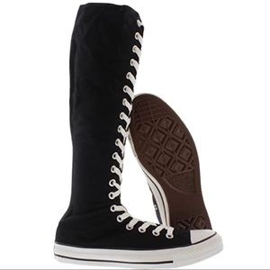 Converse all-star knee-high black size lace  #S24
